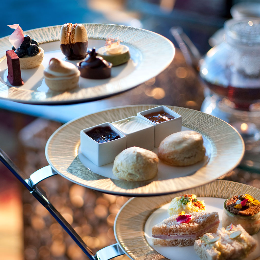 Selection of afternoon tea treats