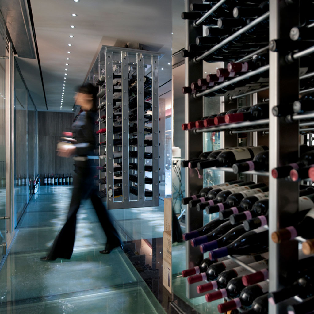Twist restaurant wine cellar